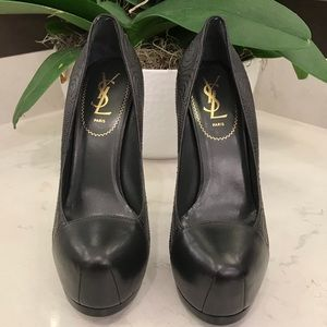 YSL LEATHER PLATFORM PUMP